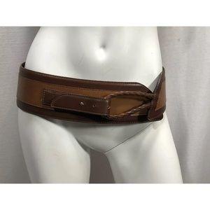 Vitanuova Leather Belt Brown Size 32 Women Italy